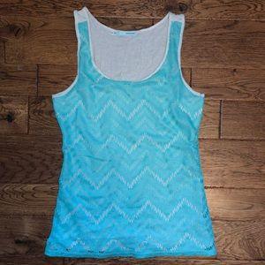 Maurices mint blue crocheted tank Medium